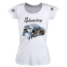 Tee shirt femme nounou super chouette  personnalisé avec prénom