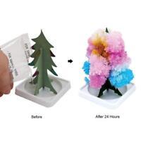 DIY magisches wachsendes Weihnachtsbaum-Kristallpapier-Baum-Weihnachtsdekor E5Y8