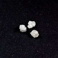 3 x Diamant ca. Ø 5,0 mm Rohdiamant 0,8 Karat Kt ct gebohrt Russland diamond C8