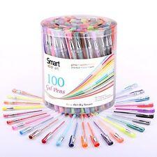 100 Pcs Gel Pen Set Classic Glitter, Neon, Standard, Milky, Swirl & Metallic