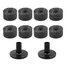 8pcs 2.5cm Non-slip Cymbal Felt Pads+Casing Pipe Tools Drum Kit Accessories C#P5