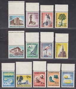 South West Africa 1961 QEII Definitives Part Set to 1r Mint cat £24