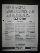 SUZUKI GSF1200X Set Up Manual GSF 1200 X Set-Up 99505-01039-011 Motorcycle