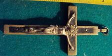 antico grande crocifisso finale di rosario croce 1800