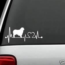 K1034 Australian Shepherd Aussie Heartbeat© Lifeline Monitor Decal Sticker Car