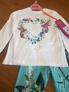 Ted Baker Babt Girls Outfit  Top And Leggings Age 9-12 Months