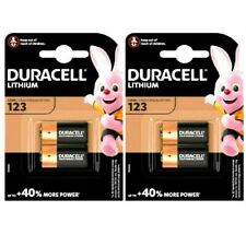 4x Duracell Ultra CR123 3V Lithium Photo Battery 123 DL123A CR17345