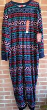 Jammies For Your Families Womens One Pc Pajamas Sz 2X XXL Christmas Gingerbread