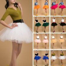 Para Mujeres Adulto Fiesta Organza Dancewear Tutu Ballet Pettiskirt Princesa Falda Vestido