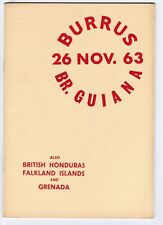 Burrus British Guiana 1963 Auction Catalogue by Robson Lowe