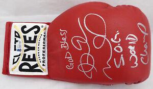 Andre Ward Auto Reyes Boxing Glove God Bless, World Champ S.O.G. Beckett V61314