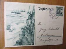 EBS Germany 1937 Postal Card 6+4 Pf. Winterhilfswerk Deep Sea Fishing P 266 Used
