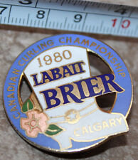 Calgary 1980 Canada Curling Championship Labatt Brier Pinback Pin Button