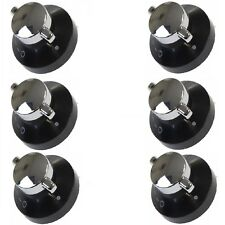 6 X Oven Gas Control Knobs Hob Cooker Switch Chrome Black Silver for World