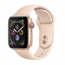 Apple Watch Series 4 44 mm Gold Aluminum Case with Pink Sand Sport Band (GPS + Cellular) - (MTVW2X/A)