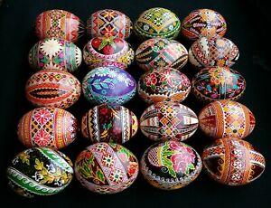 20 Real Ukrainian handmade Pysanky Easter Eggs Osterei Pysanka Pisanki egg shell