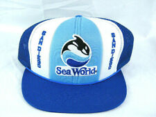 Nos Vintage 80's San Diego Sea World Mesh Snapback Trucker Baseball Hat Cap