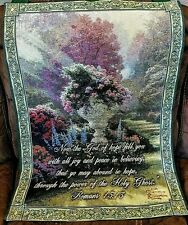 Thomas Kinkade's Garden of Hope Wall Tapestry w/ Scripture Pole Not included