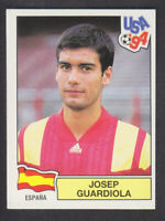 Panini - USA 94 World Cup - # 195 Josep Guardiola - Espana (Black Back)