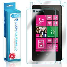 2x iLLumi AquaShield HD Front Screen + Back Panel Protector for Nokia Lumia 810
