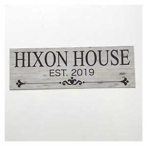 Custom Your Family Name and Year House Sign