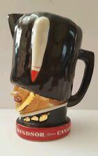 Windsor Supreme Canadian Whiskey Vintage Pitcher Guardsman Pub Jug Bar Ware 1970