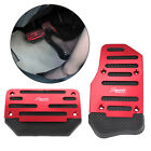 Red Non-slip Automatic Gas Brake Foot Pedal Pad Cover Car Accessories Parts-2pcs