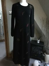 Lovely Peruvian Connection Long Black Knitted Jumper Dress UK 12/m