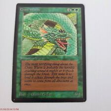 Vintage 1993 Magic The Gathering MTG Beta Craw Wurm Jade's Collection MP