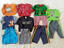 Lot of 10 Toddler Boys Clothes Shirts Vest Sweater Outfits Pants Size 18 Months