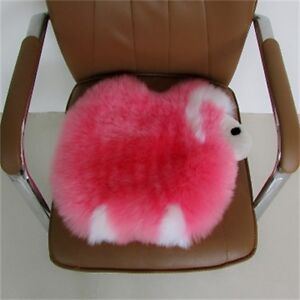 100% Genuine Sheepskin Long Wool Seat Cushion Cover Breathable Warm Chair Pad