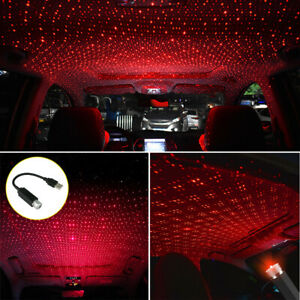 USB LED Car Roof Atmosphere Lamp Ambient Star Starry Light Projector Accessories