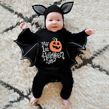 Newborn Baby Boys Girls Halloween Cosplay Costume Romper Jumpsuits+Hat Outfits