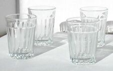 Collectible Vintage Barware Libbey Shot Glasses Clear Glass & Side Indentations