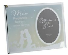 """MUM REFLECTIONS OF THE HEART PHOTO FRAME MIRRORED 4""""x 6"""" NEW BOXED"""