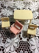 Vintage Dollhouse Furniture Miniature Superior Table & 3 Chairs Df-5