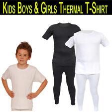 Kids Thermal Extra Warm Long Johns & T-Shirt Short Sleeve For Boys & Girls