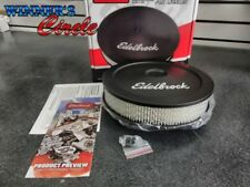 "Edelbrock 1203 Pro-Flo Black 10"" Round Air Cleaner with 2"" Paper Element"