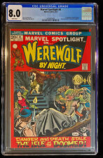 1972 Marvel Spotlight #4 CGC 8.0 White Pages Werewolf By Night 1st Buck Cowan