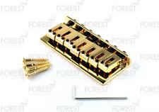 BN-071, Hardtail string-thru fixed style bridge for 7 string guitar, gold