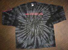 Men's Black By Popular Demand Tie Dye Long Sleeve T-Shirt Size 2XL
