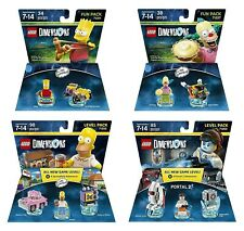 Set of 4..Simpsons Homer + Bart + Krusty + Portal 2 Level and Fun Packs - Lego