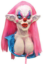 ZLUTO SCARY CLOWN HALLOWEEN MASK VERY LARGE IN SIZE! STAND OUT! ZOMBIE PROP