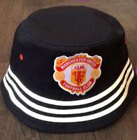 MANCHESTER UNITED Bucket Hat - Black AJ4819 ADIDAS 1990's Vintage Retro 5+/5