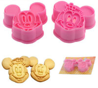 Mickey & Minnie Mouse Cookie Cutters Sugarcraft Cake Decorating Tools Shaper UK