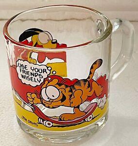 GARFIELD McDonalds USA VINTAGE Glass Coffee Mug 1978 - COLLECTABLE 'RARE' - VGC
