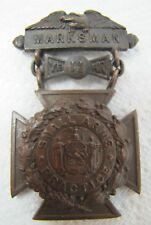 Antique Tiffany & Co Marksman Small Arms Practice Award Medallion