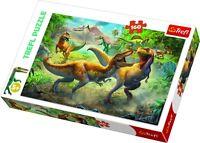 Trefl 160 Piece Kids Large Dinosaurs Fighting Tyrannosaurs Jigsaw Puzzle NEW