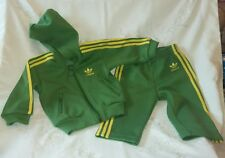 Adidas Green Yellow Tracksuit 9 Months Excellent Condition