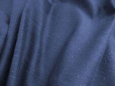 Herringbone weave denim blue cotton decorator fabric